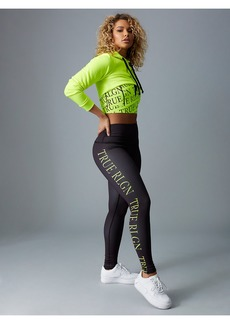 True Religion BODIED NEON CROP HOODIE