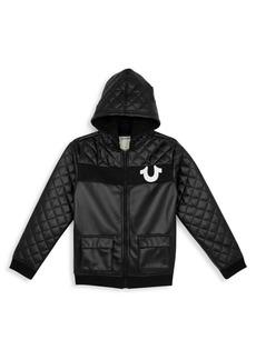 True Religion Boy's Coated Hooded Jacket
