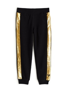 True Religion BOYS METALLIC STRIPE SWEATPANT