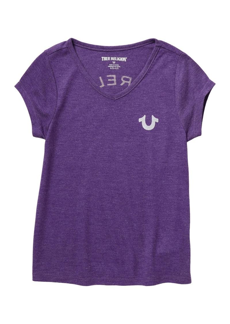 True Religion Branded Logo T-Shirt (Big Girls)
