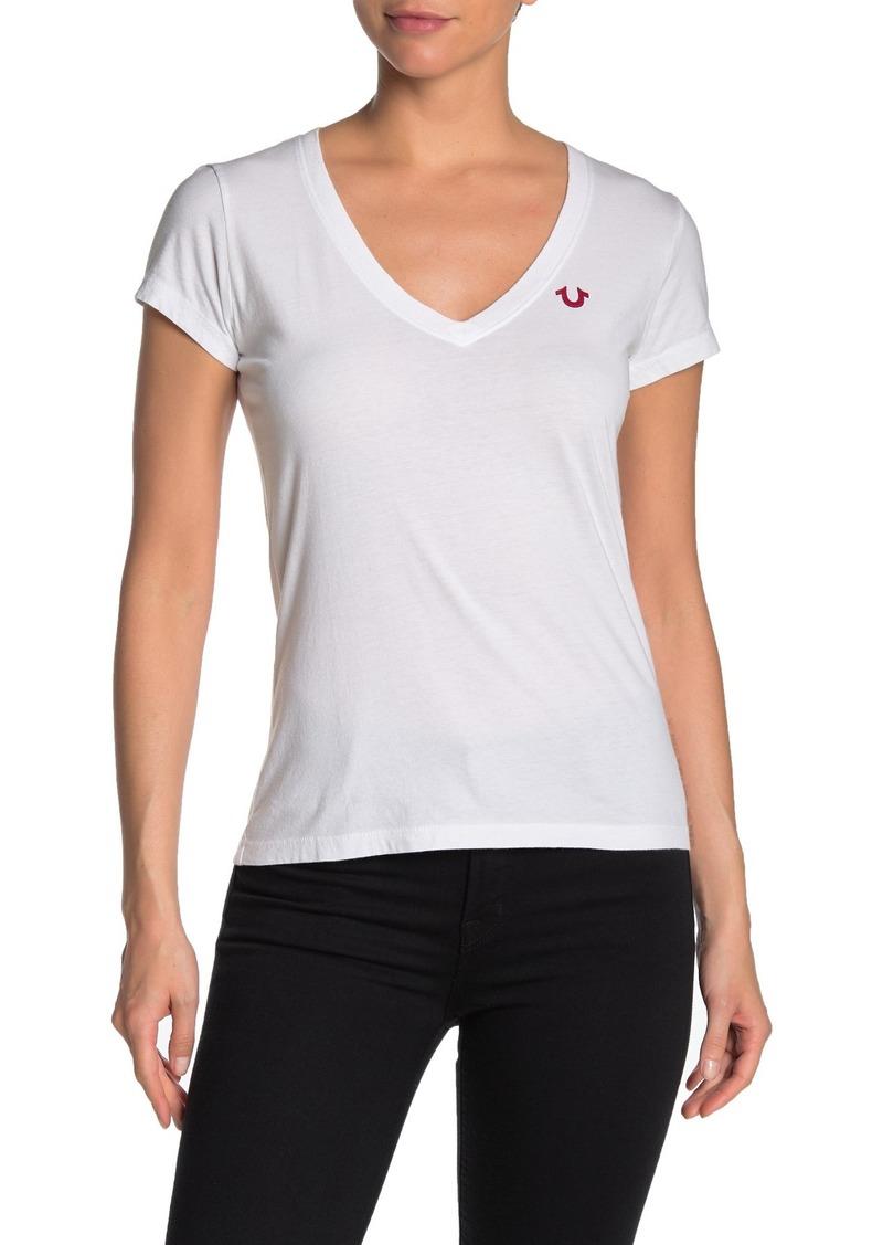 True Religion Buddha Deep V-Neck T-Shirt