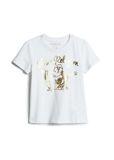 True Religion GIRLS GOLD BUDDHA TEE