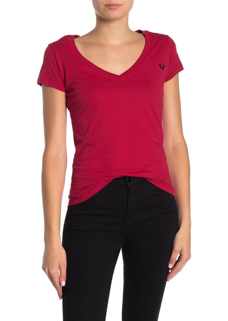 True Religion Buddha V-neck Short Sleeve T-Shirt