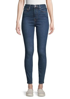 True Religion Caia Button Super Skinny Jeans
