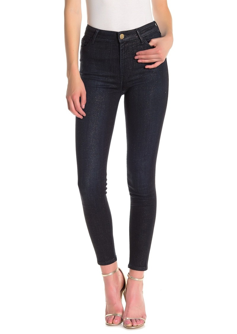 True Religion Caia Gold Shimmer Skinny Jeans