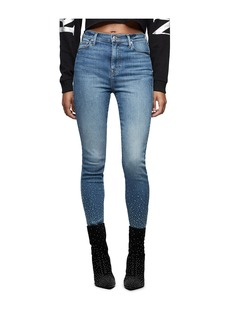 True Religion CAIA ULTRA HIGH RISE CRYSTAL JEAN