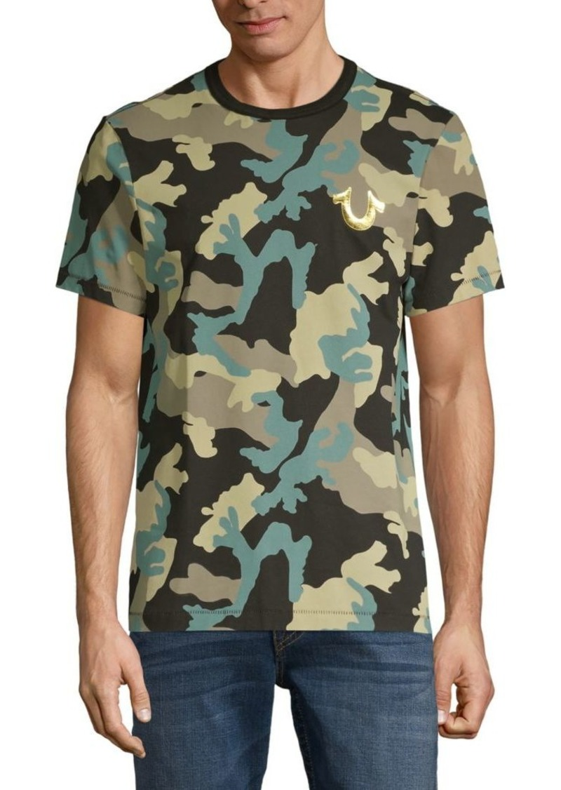 True Religion Camo-Print Cotton Tee