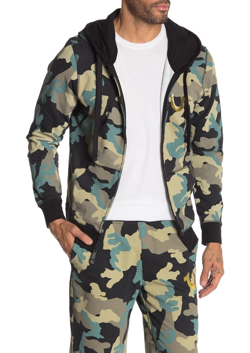 True Religion Camouflage Zip-Up Hoodie