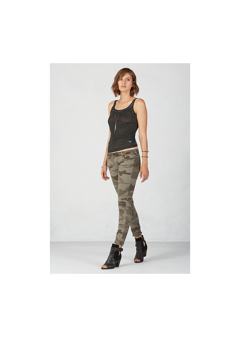 True Religion CASEY SUPER SKINNY WOMENS CAMO PANT