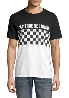 True Religion Checkered Football Cotton Tee