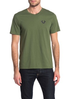 True Religion Clasic Horseshoe Logo V-Neck T-Shirt