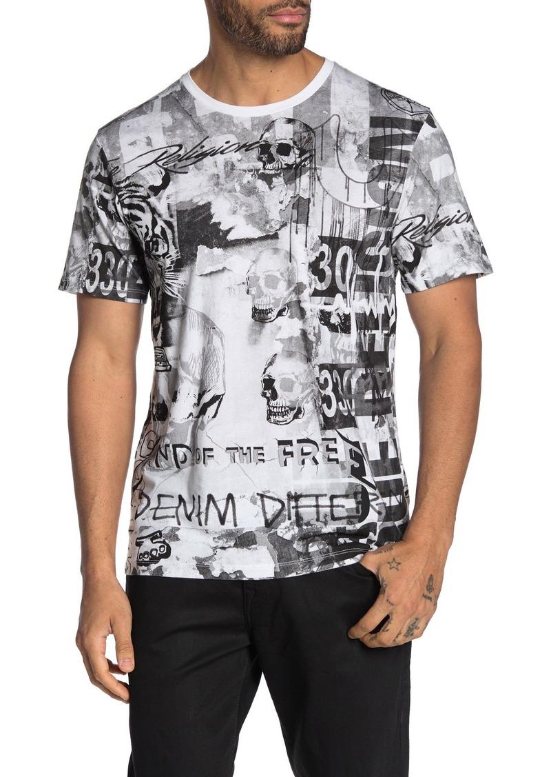 True Religion Collage Short Sleeve T-Shirt