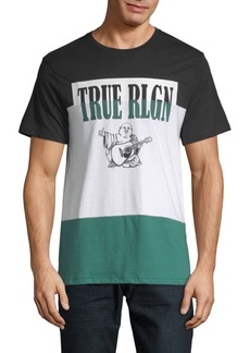 True Religion Colorblock Cotton Tee