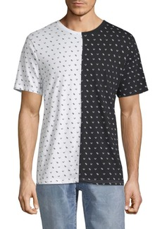 True Religion Colorblock Printed Cotton Tee