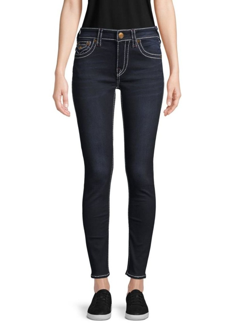 True Religion Contrast Stitch Logo Jeans