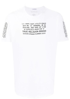 True Religion crew neck logo printed T-shirt