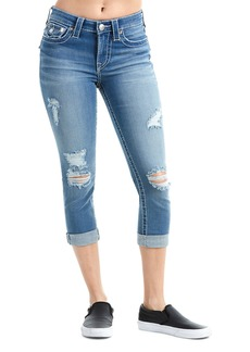 True Religion Curvy Distressed Capri Jeans