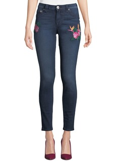 True Religion Curvy-Fit Floral Embroidered Jeans