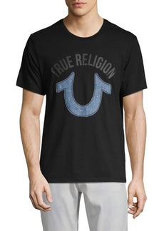 True Religion Denim Appliqué Crewneck Cotton Top