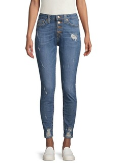 True Religion Jennie Distressed High-Rise Jeans