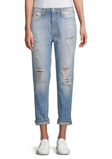 True Religion Distressed Boyfriend Fit Jeans