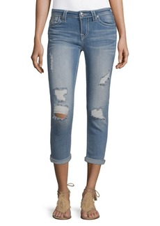 True Religion Distressed Crop Jeans