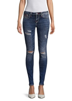 True Religion Distressed Curvy Skinny Jeans
