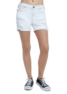 Distressed Rolled-Cuff Shorts