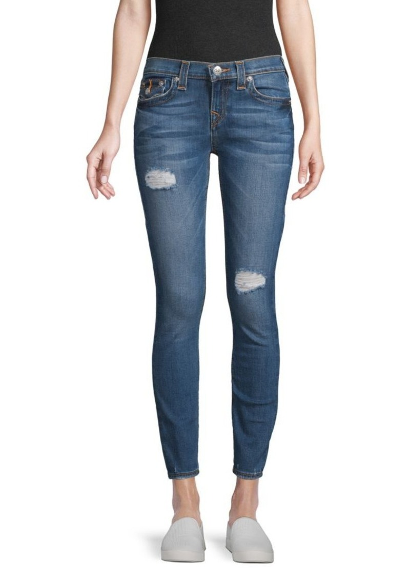 True Religion Distressed Skinny Ankle Jeans