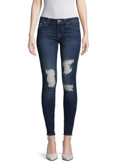 True Religion Distressed Super Skinny Jeans