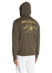 True Religion Double Puff Zip-Up Hoodie