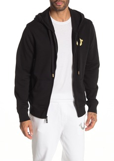 True Religion Double Puff Zip-Up Hoodie
