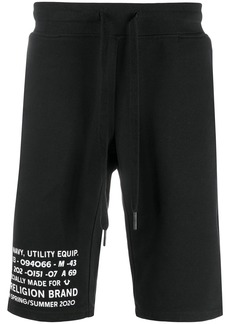 True Religion drawstring-waist logo track shorts