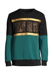 True Religion Embellished Colorblock Sweatshirt