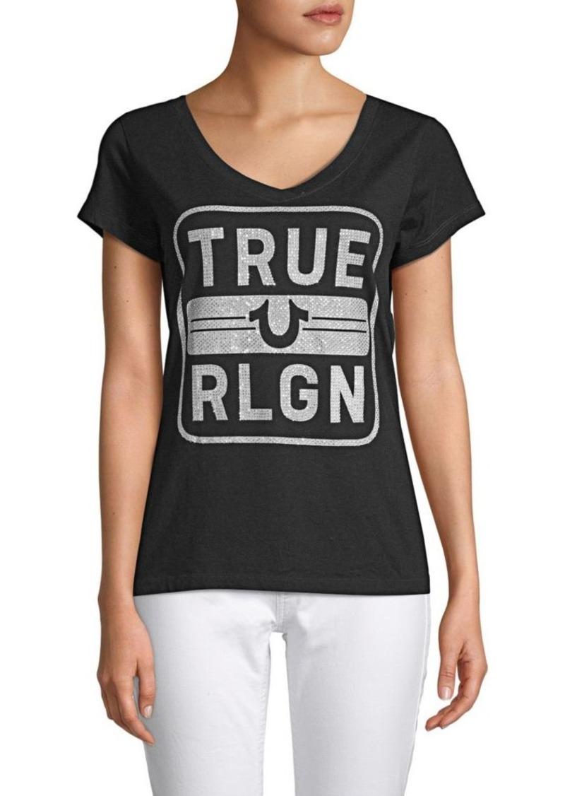 True Religion Embellished Cotton Tee