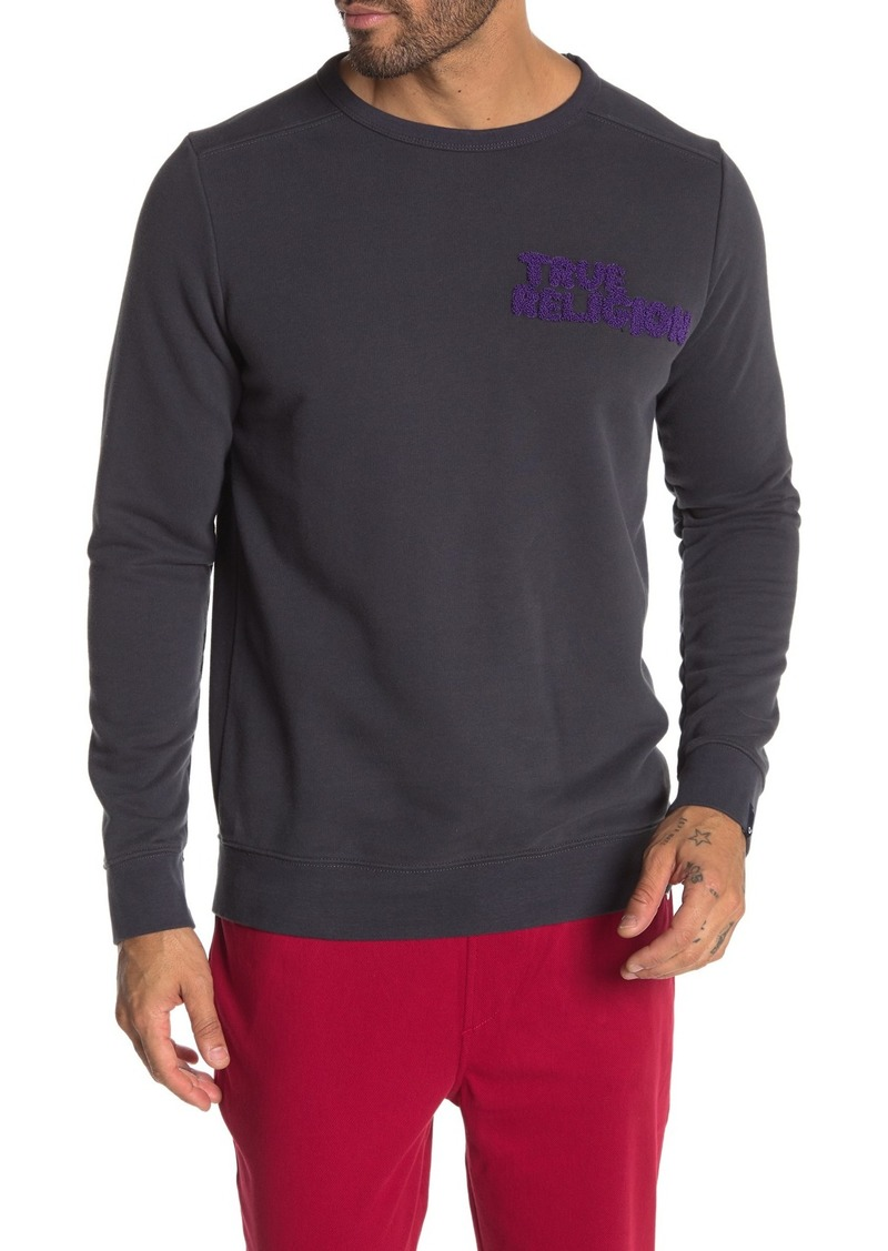 True Religion Embroidered Crew Neck Sweatshirt