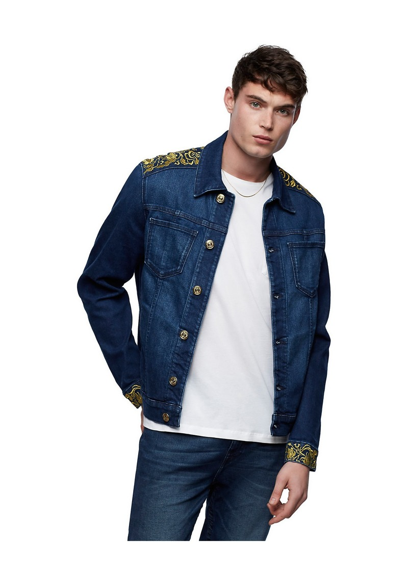 True Religion EMBROIDERED DENIM JACKET
