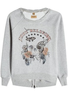 True Religion Embroidered Sweatshirt with Cotton
