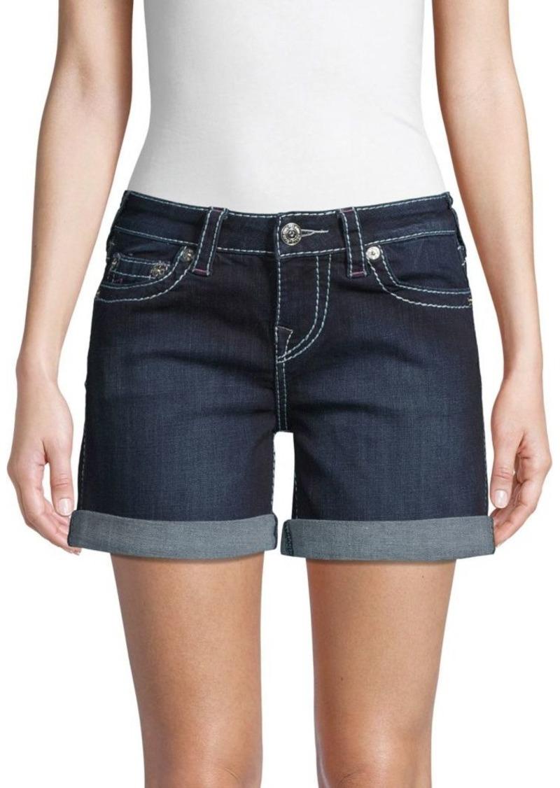 True Religion Faded Denim Shorts