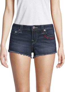 True Religion Frayed Denim Shorts