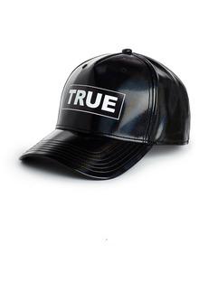 True Religion FAUX LEATHER LOGO HAT
