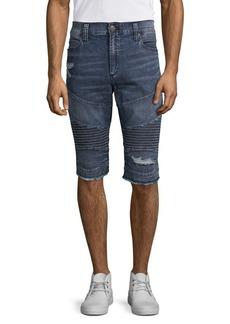 True Religion Gene Moto Denim Shorts
