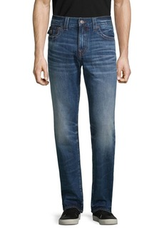 True Religion Geno Flap Faded Straight-Leg Jeans