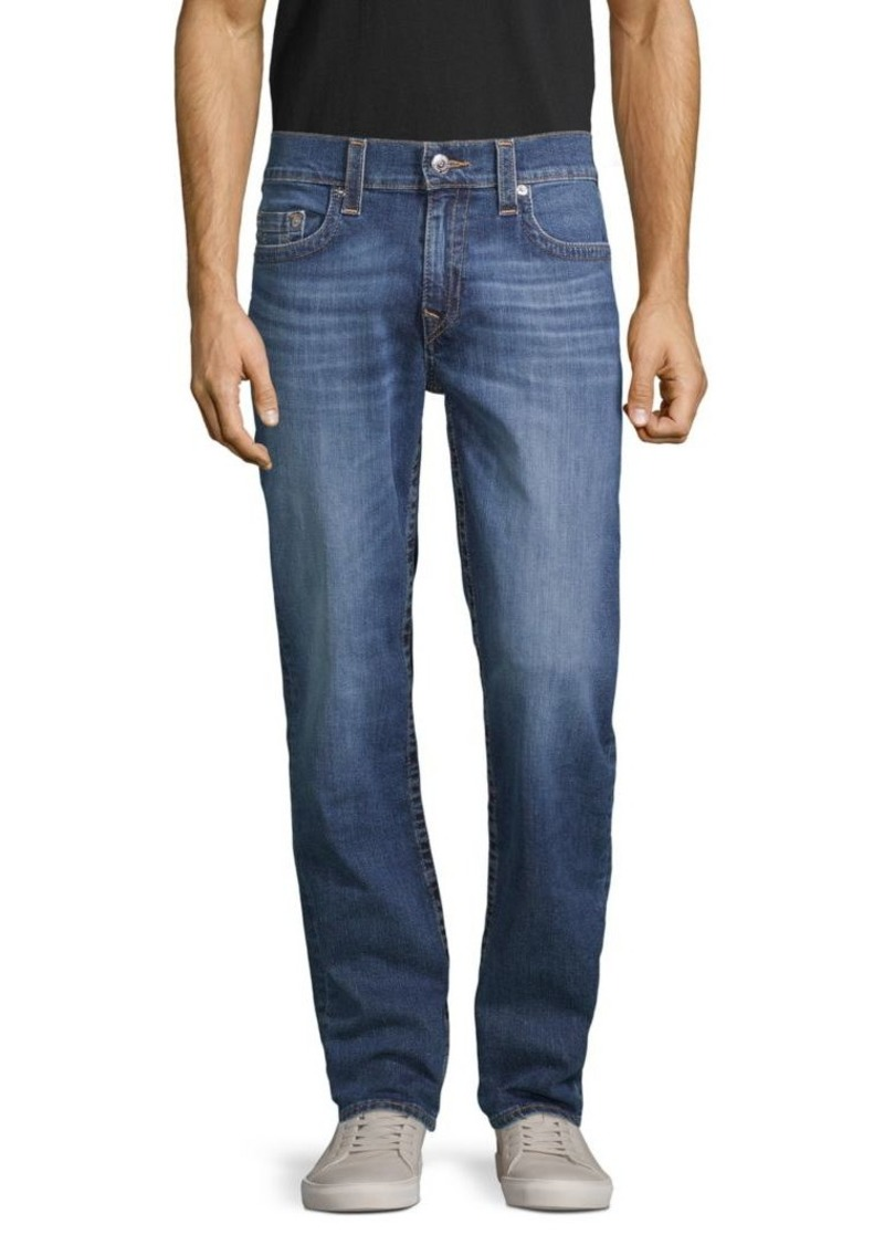 True Religion Geno Relaxed Slim-Fit Faded Jeans