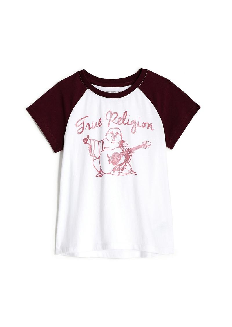 True Religion GIRLS RAGLAN BUDDHA TEE