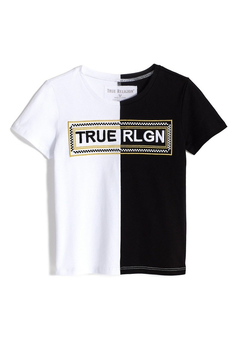 True Religion GIRLS SPLIT LOGO TEE