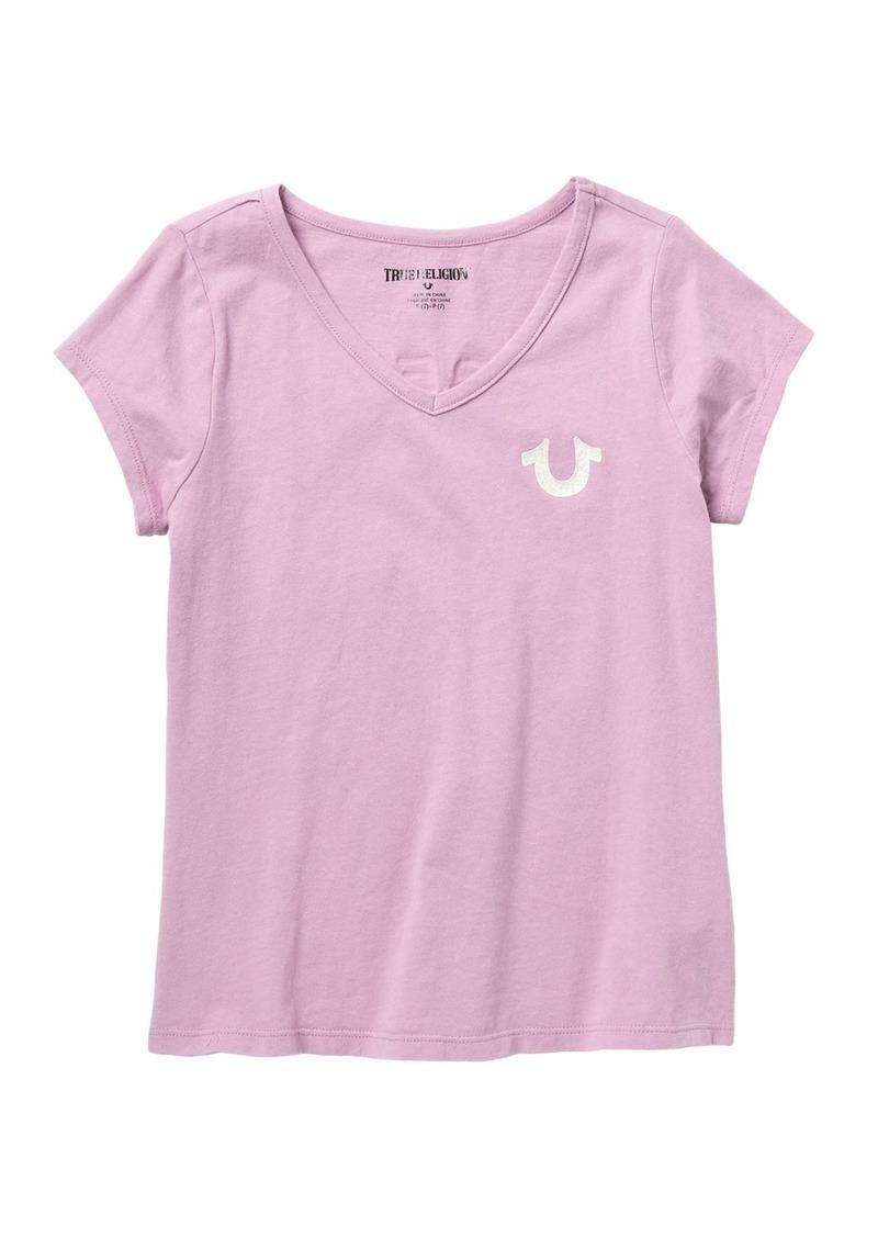 True Religion Glitter Puff T-Shirt (Big Girls)