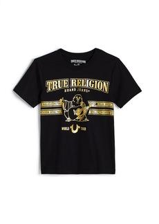 True Religion GOLD FOIL BUDDHA TEE