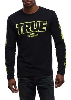 True Religion Graphic Print Long Sleeve T-Shirt