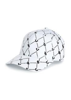 True Religion GRID REPEAT BASEBALL CAP